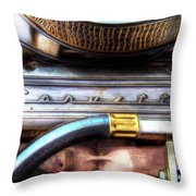 1965 Corvette Engine Digitally Painted Throw Pillow