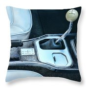 1965 Corvette Hurst Shifter Throw Pillow
