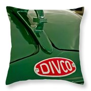 1965 Divco Milk Truck Hood Ornament Throw Pillow