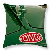 1965 Divco Milk Truck Hood Ornament Throw Pillow