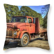 1965 Ford F600 Snub Nose Commercial Truck Throw Pillow