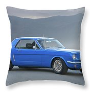 1965 Ford Mustang 'blue Coupe' I Throw Pillow