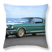 1965 Ford Mustang Fastback II Throw Pillow