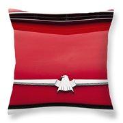 1965 Ford Thunderbird Emblem Throw Pillow