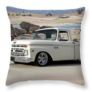 1965 Ford 'twin I Beam' Pickup Throw Pillow
