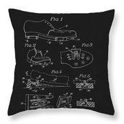 1965 Golf Shoes Patent Throw Pillow