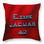 1965 Jaguar E Type Emblem Throw Pillow