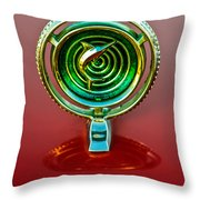 1965 Marlin Rambler Hood Ornament Throw Pillow