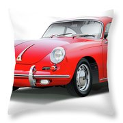 1965 Porshe 356 Sc Coupe Throw Pillow