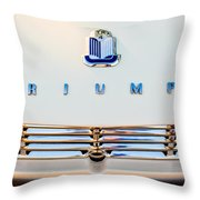 1965 Triumph Tr-4 Hood Ornament Throw Pillow