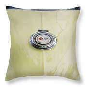 1965 Yellow Sting Ray Gas Cap Throw Pillow