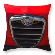 1966 Alfa Romeo Emblem Throw Pillow
