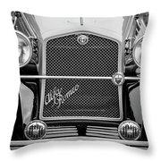 1966 Alfa Romeo Quattro Route 4r -0134bw Throw Pillow