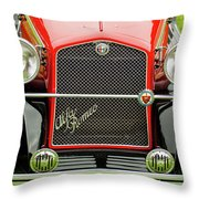1966 Alfa Romeo Quattro Route 4r Grille Throw Pillow