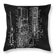 1966 Bolt Action Rifle Patent Throw Pillow