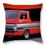 1966 Dodge A100 Pickup Throw Pillow