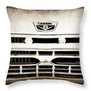 1966 Ford F100 Pickup Truck Grille Emblem -113s Throw Pillow