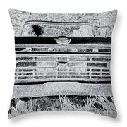 1966 Ford F100 Sketch Throw Pillow