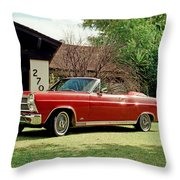 1966 Ford Fairlane 500 Convertible Throw Pillow