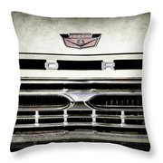 1966 Ford Pickup Truck Grille Emblem -0154ac Throw Pillow