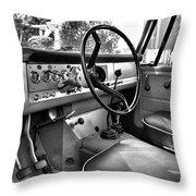 1966 International Scout Driver's Side B Throw Pillow