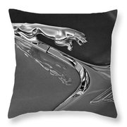 1966 Jaguar Hood Ornament 2 Throw Pillow