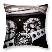1966 Jaguar Xk-e Steering Wheel Emblem -2489ac Throw Pillow