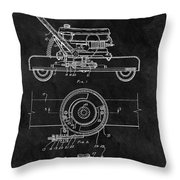 1966 Lawn Mower Patent Image Throw Pillow