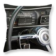 1966 Plymouth Satellite Dash Throw Pillow
