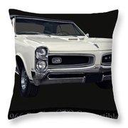 1966 Pontiac Gto Convertible Throw Pillow
