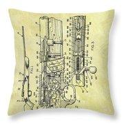 1966 Rifle Patent Throw Pillow