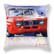 1967 Alfa Romeo Gta 1600 Groupe 5  Throw Pillow