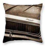 1967 Chevrolet Camaro Ss350 Convertible Grille Emblem -0704s Throw Pillow