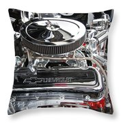 1967 Chevrolet Chevelle Ss Engine Throw Pillow