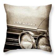 1967 Chevrolet Chevelle Ss Super Sport Emblem -0413s Throw Pillow
