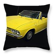 1967 Chevy Corvair Monza Throw Pillow
