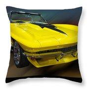 1967 Chevy Corvette Convertible Throw Pillow