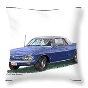 1967 Corvair Monza Spyder Throw Pillow