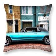 1967 Cougar Gt _hdr Throw Pillow