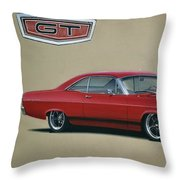 1967 Ford Fairlane Gt Throw Pillow