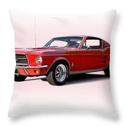 1967 Ford Mustang Fastback Throw Pillow