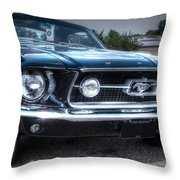 1967 Ford Mustang Throw Pillow