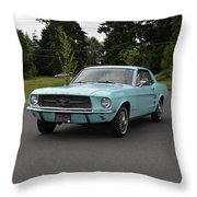 1967 Ford Mustang Watts Throw Pillow