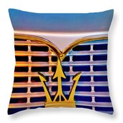 1967 Maserati Sebring Coupe Emblem Throw Pillow
