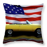 1967 Plymouth Belvedere Tribute Throw Pillow