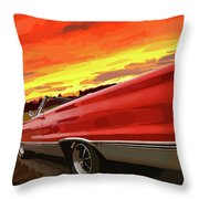 1967 Plymouth Satellite Convertible Throw Pillow
