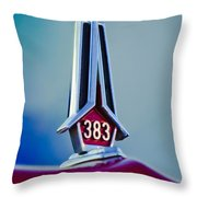 1967 Plymouth Saturn Hood Ornament Throw Pillow
