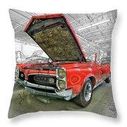 1967 Pontiac Gto American Muscle Car Throw Pillow