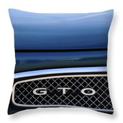 1967 Pontiac Gto Grille Emblem Throw Pillow