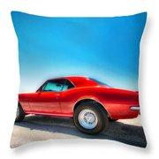 1967 S S Camaro_hdr Throw Pillow